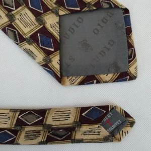 Robert Talbott Accessories - Robert Talbott Studio Necktie Silk Brown Tan